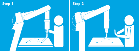 motoman robotiq kinetiq teaching