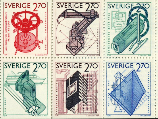 Made in Sweden postage_stamps asea abb robot