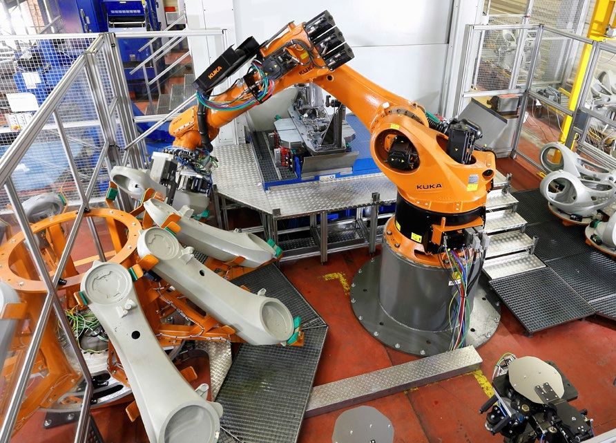 Robot build a robot