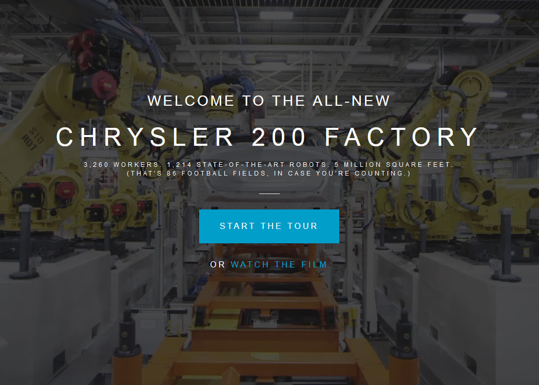 chrysler factory car virtual tour street view