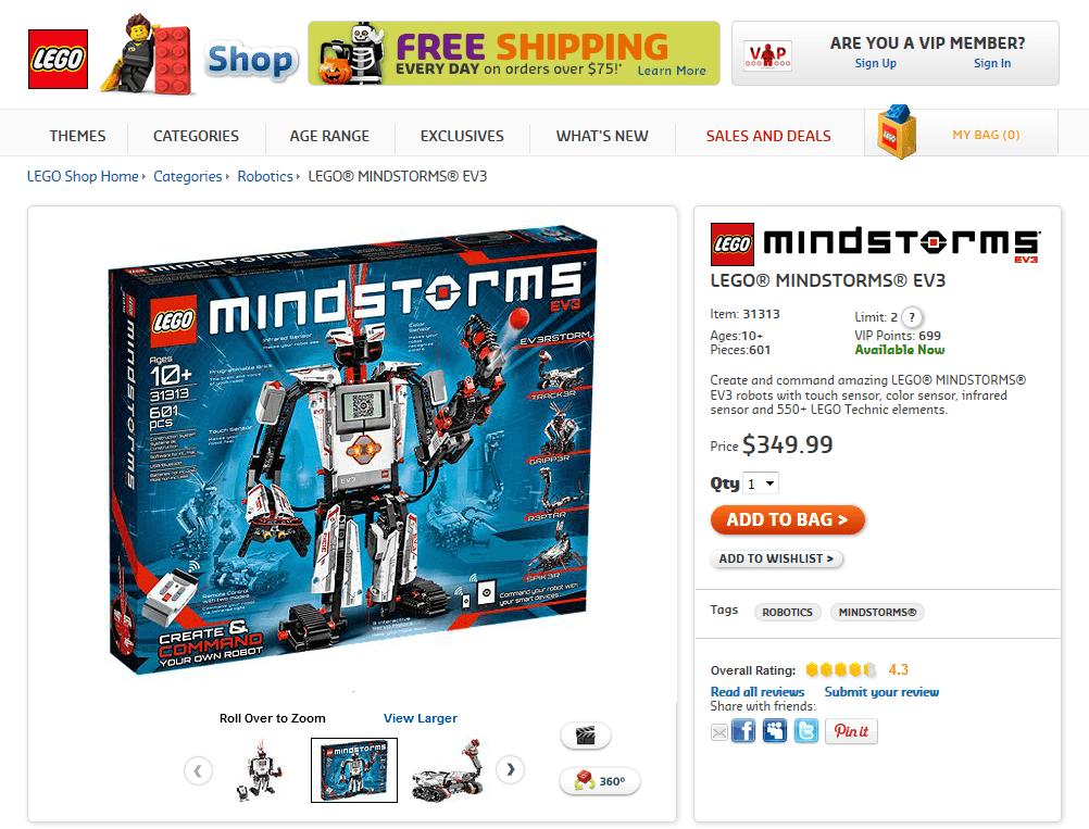 LEGO robotics mindstorm shop ev3