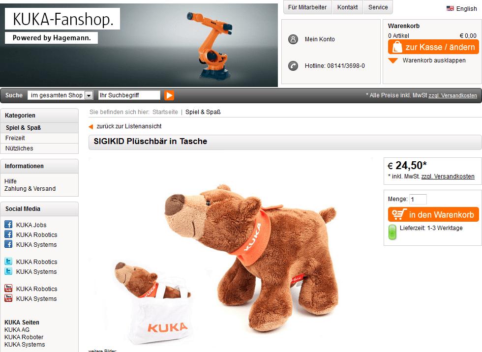kuka store shop robot gift